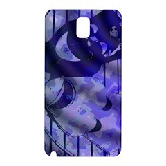 Blue Theater Drama Comedy Masks Samsung Galaxy Note 3 N9005 Hardshell Back Case