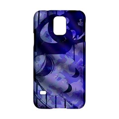 Blue Theater Drama Comedy Masks Samsung Galaxy S5 Hardshell Case