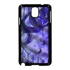 Blue Theater Drama Comedy Masks Samsung Galaxy Note 3 Neo Hardshell Case (Black)