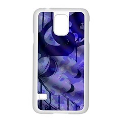 Blue Theater Drama Comedy Masks Samsung Galaxy S5 Case (White)