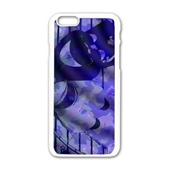 Blue Theater Drama Comedy Masks Apple iPhone 6/6S White Enamel Case