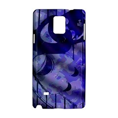 Blue Theater Drama Comedy Masks Samsung Galaxy Note 4 Hardshell Case