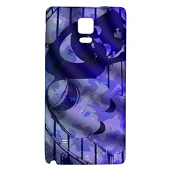 Blue Theater Drama Comedy Masks Galaxy Note 4 Back Case