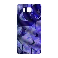Blue Theater Drama Comedy Masks Samsung Galaxy Alpha Hardshell Back Case