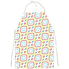 Squares Rhombus And Circles Pattern  			full Print Apron by LalyLauraFLM