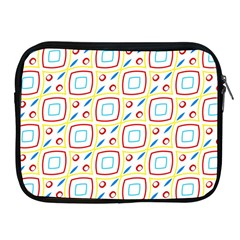 Squares Rhombus And Circles Pattern  			apple Ipad 2/3/4 Zipper Case by LalyLauraFLM