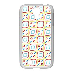 Squares Rhombus And Circles Pattern  			samsung Galaxy S4 I9500/ I9505 Case (white) by LalyLauraFLM