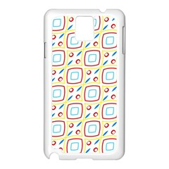 Squares Rhombus And Circles Pattern  			samsung Galaxy Note 3 N9005 Case (white) by LalyLauraFLM