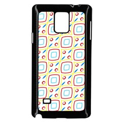 Squares Rhombus And Circles Pattern  			samsung Galaxy Note 4 Case (black) by LalyLauraFLM