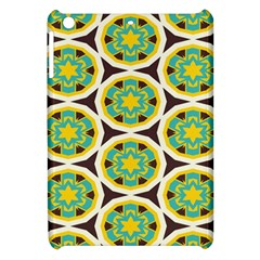 Blue Yellow Flowers Pattern 			apple Ipad Mini Hardshell Case by LalyLauraFLM