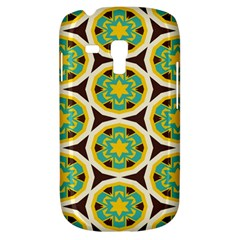 Blue Yellow Flowers Pattern 			samsung Galaxy S3 Mini I8190 Hardshell Case by LalyLauraFLM