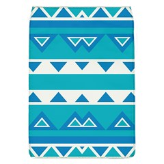 Blue Triangles And Stripes  			removable Flap Cover (l) by LalyLauraFLM