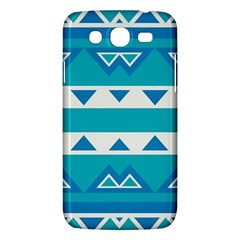 Blue Triangles And Stripes  			samsung Galaxy Mega 5 8 I9152 Hardshell Case by LalyLauraFLM