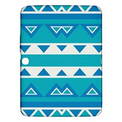 Blue Triangles And Stripes  			samsung Galaxy Tab 3 (10 1 ) P5200 Hardshell Case by LalyLauraFLM