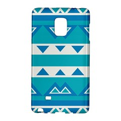 Blue Triangles And Stripes  			samsung Galaxy Note Edge Hardshell Case by LalyLauraFLM
