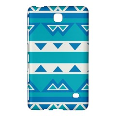 Blue Triangles And Stripes  			samsung Galaxy Tab 4 (7 ) Hardshell Case by LalyLauraFLM