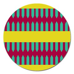 Stripes And Other Shapes   			magnet 5  (round) by LalyLauraFLM