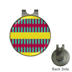 Stripes And Other Shapes   			golf Ball Marker Hat Clip by LalyLauraFLM