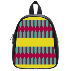 Stripes And Other Shapes   			school Bag (small) by LalyLauraFLM