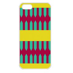 Stripes And Other Shapes   			apple Iphone 5 Seamless Case (white) by LalyLauraFLM