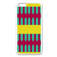 Stripes And Other Shapes   			apple Iphone 6 Plus/6s Plus Enamel White Case by LalyLauraFLM