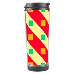 Squares And Stripes    Travel Tumbler