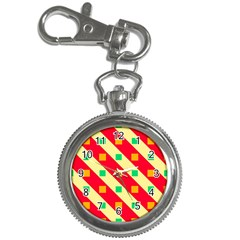 Squares And Stripes    			key Chain Watch by LalyLauraFLM