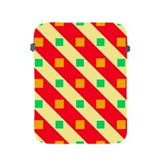 Squares And Stripes    			apple Ipad 2/3/4 Protective Soft Case by LalyLauraFLM