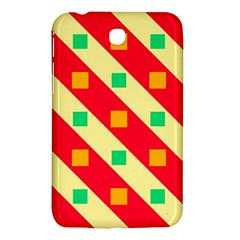 Squares And Stripes    			samsung Galaxy Tab 3 (7 ) P3200 Hardshell Case by LalyLauraFLM