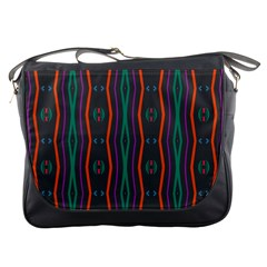 Wavy Chains Pattern     			messenger Bag by LalyLauraFLM