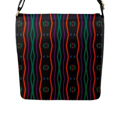 Wavy Chains Pattern     			flap Closure Messenger Bag (l) by LalyLauraFLM