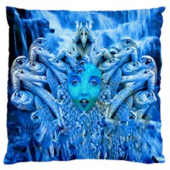Medusa Metamorphosis Large Flano Cushion Case (two Sides) by icarusismartdesigns