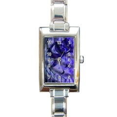 Blue Theater Drama Comedy Masks Rectangle Italian Charm Watch