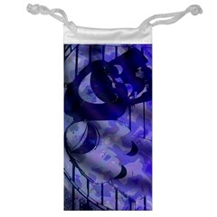 Blue Theater Drama Comedy Masks Jewelry Bags