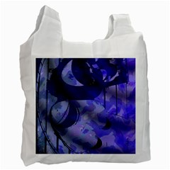 Blue Theater Drama Comedy Masks Recycle Bag (One Side)