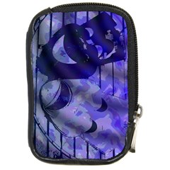 Blue Theater Drama Comedy Masks Compact Camera Cases