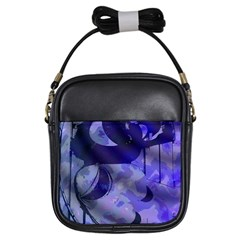 Blue Theater Drama Comedy Masks Girls Sling Bags