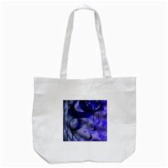 Blue Theater Drama Comedy Masks Tote Bag (White)