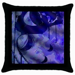 Blue Theater Drama Comedy Masks Throw Pillow Case (Black)