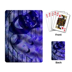 Blue Theater Drama Comedy Masks Playing Card