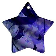 Blue Theater Drama Comedy Masks Star Ornament (Two Sides)