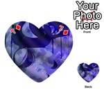 Blue Theater Drama Comedy Masks Playing Cards 54 (Heart)  Front - Diamond7