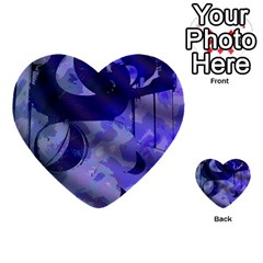 Blue Theater Drama Comedy Masks Multi-purpose Cards (Heart)