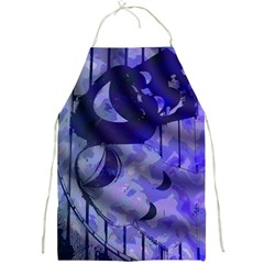 Blue Theater Drama Comedy Masks Full Print Aprons