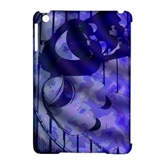 Blue Theater Drama Comedy Masks Apple iPad Mini Hardshell Case (Compatible with Smart Cover)