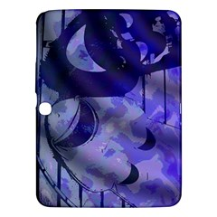 Blue Theater Drama Comedy Masks Samsung Galaxy Tab 3 (10.1 ) P5200 Hardshell Case