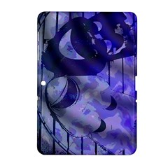 Blue Theater Drama Comedy Masks Samsung Galaxy Tab 2 (10.1 ) P5100 Hardshell Case
