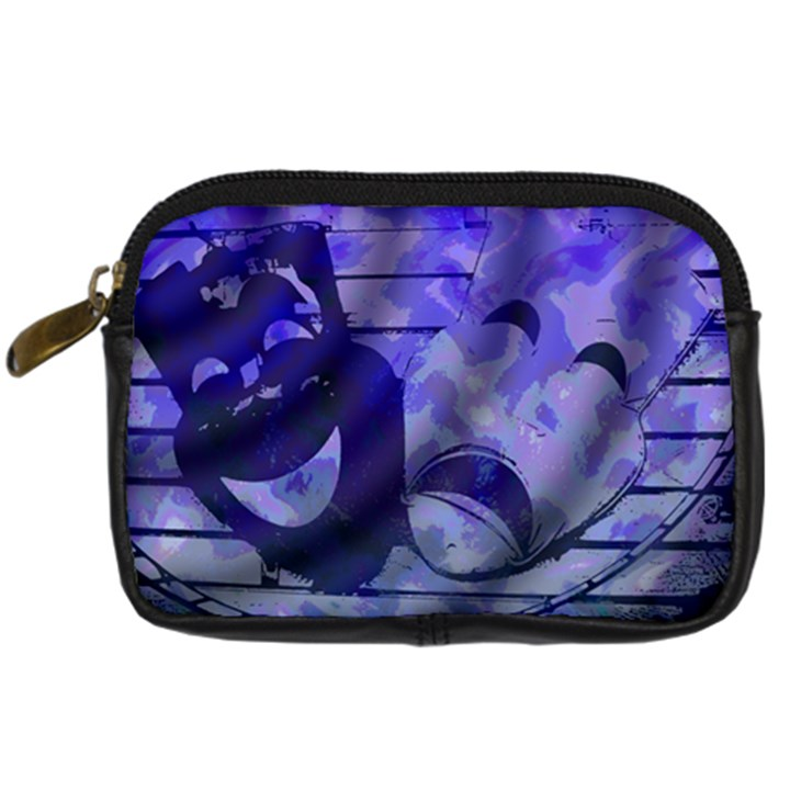 Blue Comedy Drama Theater Masks Digital Camera Cases