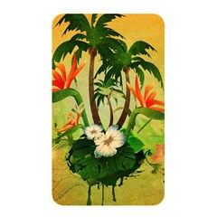 Tropical Design With Flowers And Palm Trees Memory Card Reader by FantasyWorld7
