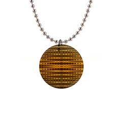 Yellow Gold Khaki Glow Pattern Button Necklaces by BrightVibesDesign